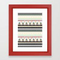 Aztec 3 Framed Art Print