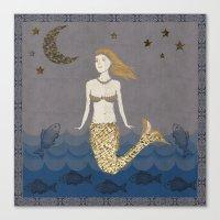 Mermaid At Dusk Canvas Print