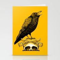 Black Crow, Skull And Cr… Stationery Cards
