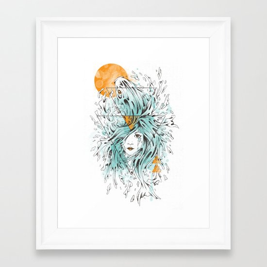 ariel 2.0 Framed Art Print
