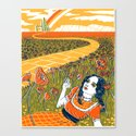 Dorothy in the Poppy Field Canvas Print