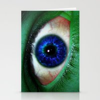 The Hulk is watching you Stationery Cards