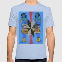 SPACE GODS Mens Fitted Tee Athletic Blue SMALL