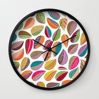 Leaf Colorful Wall Clock
