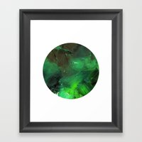 Emerald Occulus Framed Art Print