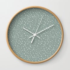 PolkaDots-Mint on Juniper Wall Clock