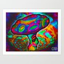 Shroomery #1 Psychedelic Colorful Mushroom Trippy Character Design Art Print