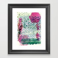 Ghosting green to pink Framed Art Print