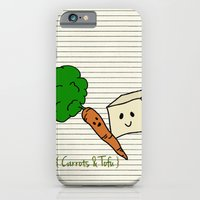 iPhone & iPod Case featuring {Carrots & Tofu} by NC Stewart