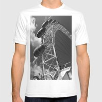 The London Eye Mens Fitted Tee White SMALL