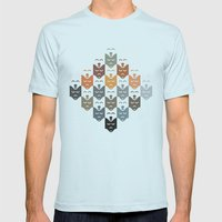 Dogs Mens Fitted Tee Light Blue SMALL