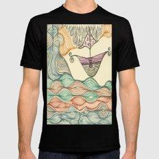 Hundertwasser's last voyage Black SMALL Mens Fitted Tee