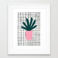 Plant Pot Framed Art Print