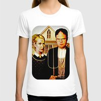 Dwight Schrute & Angela … Womens Fitted Tee White SMALL