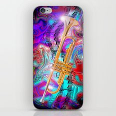 Psychedelic Trumpet iPhone & iPod Skin