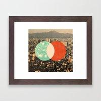 Tokyo Split Framed Art Print
