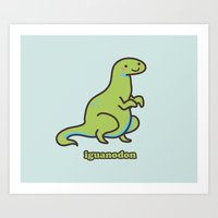 Iguanodon Art Print