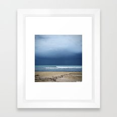 Maybe Not The Best Weather? Framed Art Print
