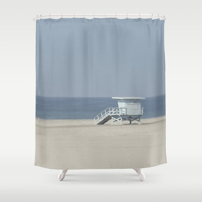 lifeguard stand shower curtain by pure nature photos