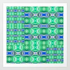 Green Mosaic Art Print