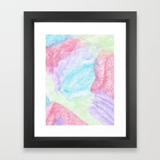 Chalking Around Framed Art Print