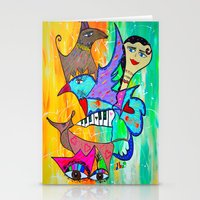 AIKIDO GIRL Stationery Cards