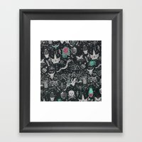 Bones In The Desert Framed Art Print