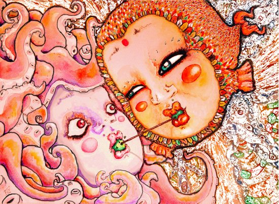 Octopus Love Art Print