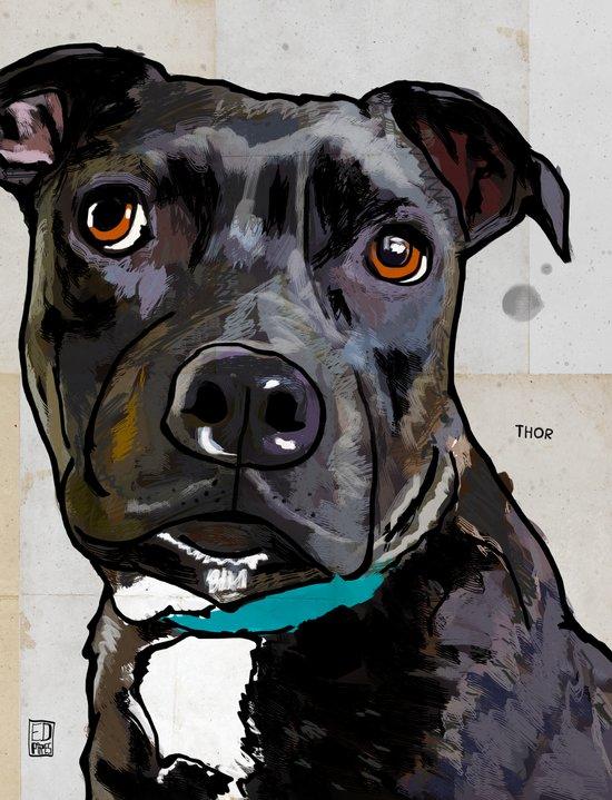 Dog: Staffordshire Bull Terrier Art Print