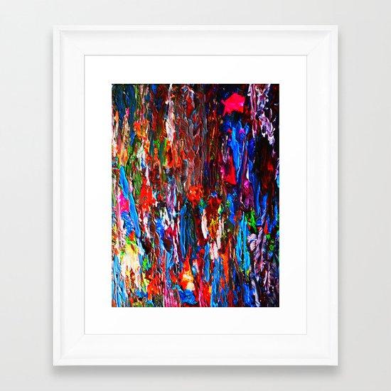 color mix / palette knife abstract Framed Art Print