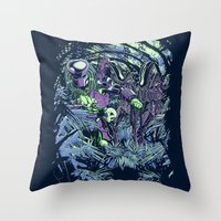 Welcome to the jungle (neon alternate) Throw Pillow