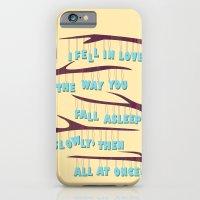 iPhone & iPod Case featuring Asleep by Sarah Turbin