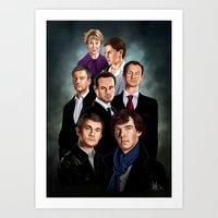 sherlock Art Prints featuring Sherlock by tillieke
