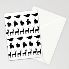 Bunny, reindeer, bird Stationery Cards