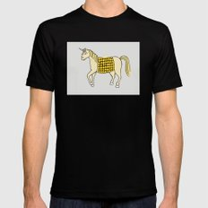 Unicorn Black Mens Fitted Tee SMALL