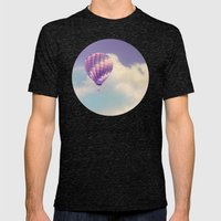 BALLOON FLIGHT Mens Fitted Tee Tri-Black SMALL