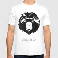 Lyonnel The Lion Mens Fitted Tee White SMALL