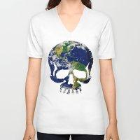 Skull Earth Unisex V-Neck