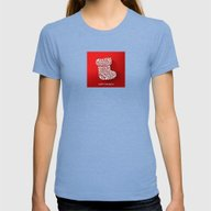 Happy Holidays - Boot Womens Fitted Tee Tri-Blue LARGE