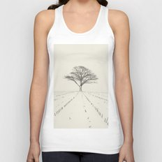 Winter Field Unisex Tank Top