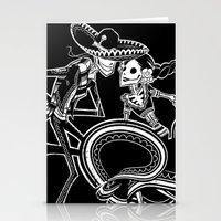 ZAPATEADO ON BLACK Stationery Cards