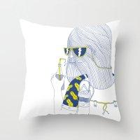 Summer Monster Throw Pillow