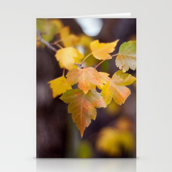 Autumn Yellow Stationery Card