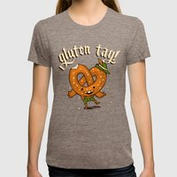 Gluten Tag Womens Fitted Tee Tri-Coffee SMALL