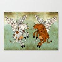 Las vacas voladoras - El día que Canvas Print