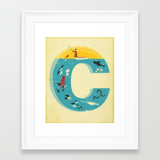 Plenty of Fish in the C Framed Art Print