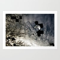 Sky Surrealism. Art Print