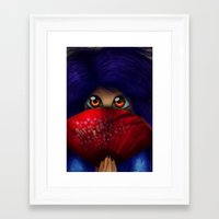 Framed Art Print featuring Hiding.  by Mickey Spectrum