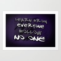 Follow No One Art Print