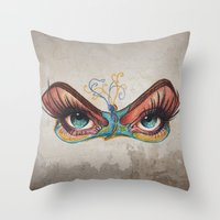 Butterflies Eyes Throw Pillow